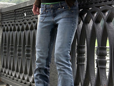Would Peeing jeans in public got