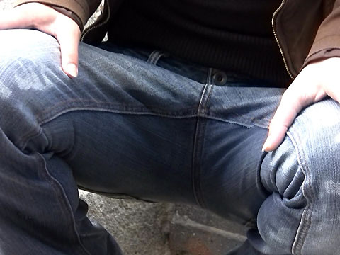 Peeing jeans Erotic
